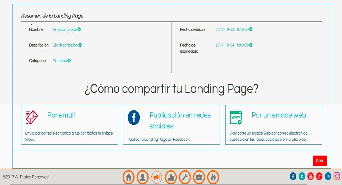 seguridad landing page