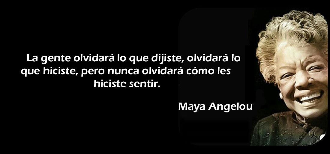 maya angelou La importancia de la experiencia de usuario